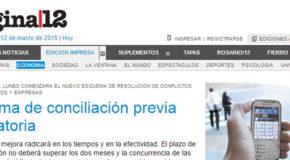 Sistema de conciliación previa obligatoria