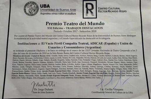 PREMIO DEL CENTRO CULTURAL RICARDO ROJAS